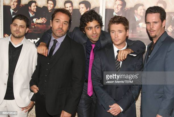 Actors Jerry Ferrara Jeremy Piven Adrian Grenier Kevin Connolly and Kevin Dillon arrive on the red carpet to HBO's official premiere of Entourage...