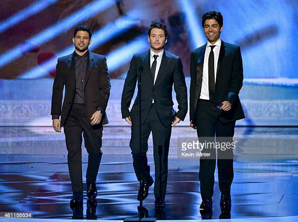 Actors Jerry Ferrara Kevin Connolly and Adrian Grenier speak onstage at The 41st Annual People's Choice Awards at Nokia Theatre LA Live on January 7...