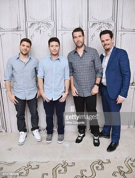 """Actors Jerry Ferrara, Kevin Connolly, writer Doug Ellin, and actor Kevin Dillon attend AOL BUILD Speaker Series: The Cast Of Film """"Entourage"""" at AOL..."""