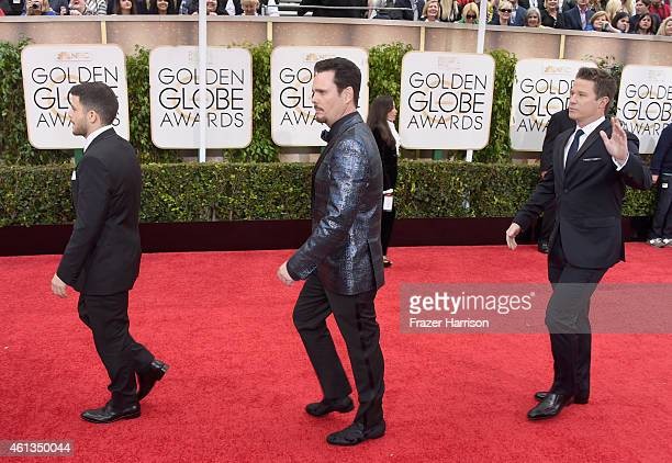 Actors Jerry Ferrara, Kevin Dillon and Kevin Connolly attend the 72nd Annual Golden Globe Awards at The Beverly Hilton Hotel on January 11, 2015 in...