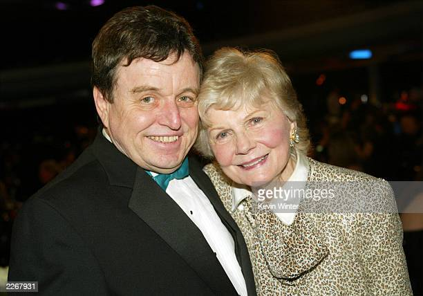 Actors Jerry Mathers and Barbara Billingsley pose during the TV Land Awards 2003 at the Hollywood Palladium on March 2 2003 in Hollywood California