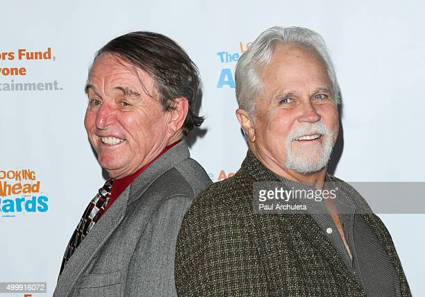 Actors Jerry Mathers and Tony Dow attend the The Actors Fund's 2015 Looking Ahead Awards at Taglyan Cultural Complex on December 3 2015 in Hollywood...