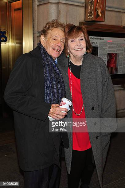 Actors Jerry Stiller and Anne Meara attend the Broadway opening night of Race at The Ethel Barrymore Theatre on December 6 2009 in New York City
