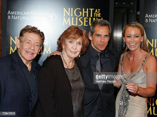 Actors Jerry Stiller Ben Stiller Christine Taylor and Anne Meara arrive at the world premiere of Night at the Museum and official launch of the...