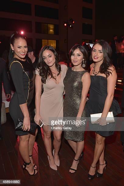 Actors Jes Meza Alexandra Rodriguez Ashley Campuzano and Vannessa Vasquez attend Latina Magazine's '30 Under 30' Party at Mondrian Los Angeles on...