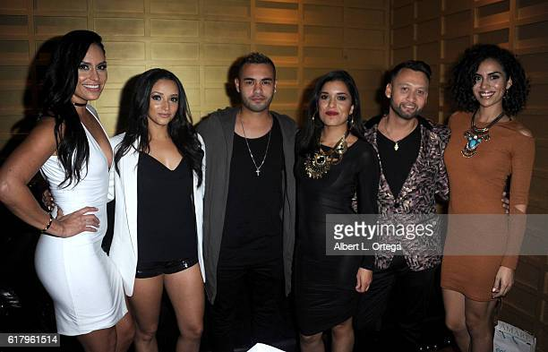 Actors Jes Meza Danielle Vega Gabriel Chavarria Alicia Sixtos Amare's George Rojas and Andrea Sixtos attend the Amare Magazine 2nd Issue Party...
