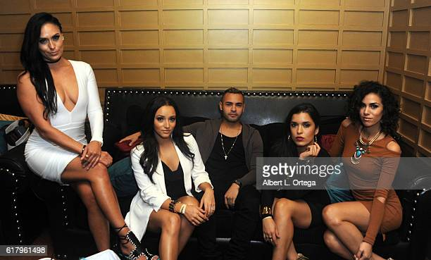 Actors Jes Meza Danielle Vega Gabriel Chavarria Alicia Sixtos and Andrea Sixtos attend the Amare Magazine 2nd Issue Party featuring the cast of...