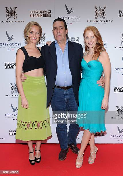 Actors Jess Weixler Ciaran Hinds and Jessica Chastain arrive at The Disappearance of Eleanor Rigby dinner hosted by Hudson's Bay and Grey Goose Vodka...