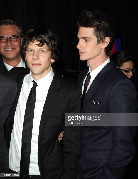 Actors Jesse Eisenberg and Andrew Garfield attend the 16th Annual Critics' Choice Movie Awards at the Hollywood Palladium on January 14 2011 in Los...