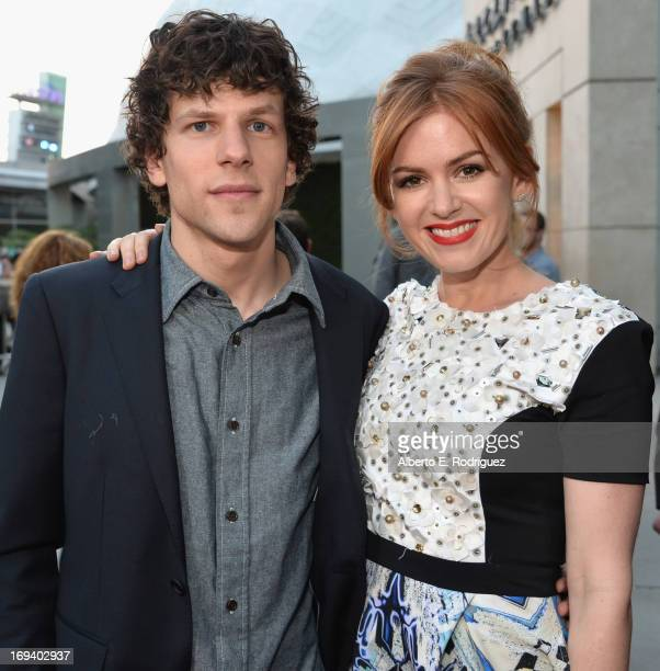 Actors Jesse Eisenberg and Isla Fisher attend a special screening of Summit Entertainment's Now You See Me at the ArcLight Theaters Hollywood on May...
