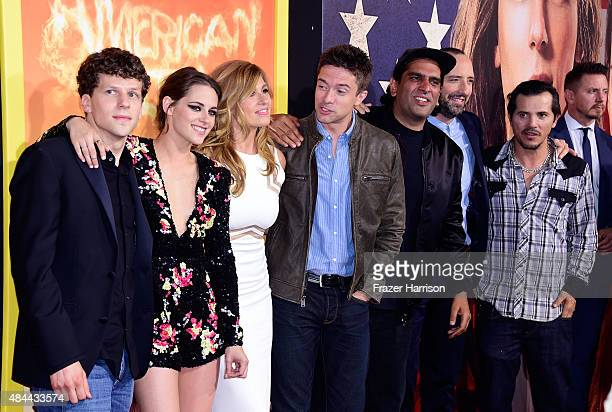 Actors Jesse Eisenberg Kristen Stewart Connie Britton Topher Grace director Nima Nourizadeh actors Tony Hale and John Leguizamo attend PalmStar Media...