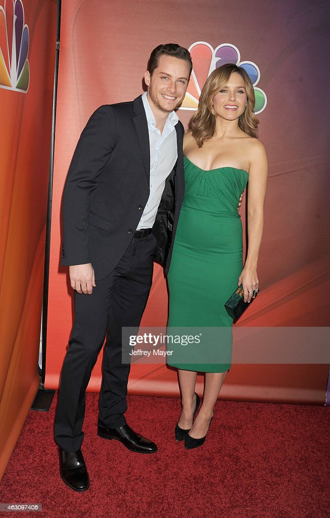 Actors Jesse Lee Soffer (L) and and Sophia Bush attend the NBCUniversal 2015 Press Tour at the Langham Huntington Hotel on January 16, 2015 in Pasadena, California.