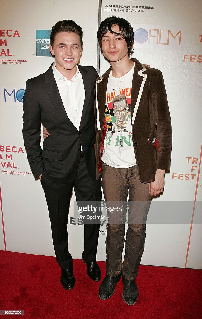 Actors Jesse McCartney and Actor Ezra Miller attend the premiere of 'Beware The Gonzo' during the 9th annual Tribeca Film Festival at the Tribeca Performing Arts Center on April 22, 2010 in New York City.