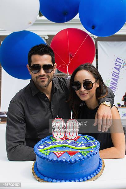 Actors Jesse Metcalfe and Cara Santana celebrate the 30th anniversary of Cinnamon Toast Crunch at Austin City Limits on October 5 2014 in Austin Texas