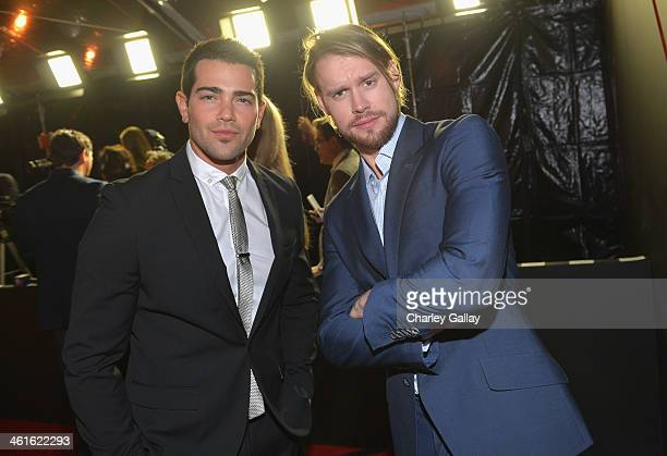 Actors Jesse Metcalfe and Chord Overstreet attend Golden Globes Weekend Audi Celebration at Cecconi's on January 9 2014 in Beverly Hills California