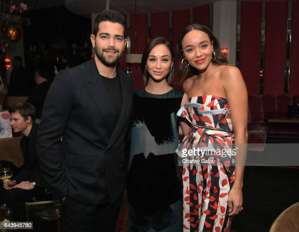 Actors Jesse Metcalfe Cara Santana and Ashley Madekwe attend Vanity Fair and L'Oreal Paris Toast to Young Hollywood hosted by Dakota Johnson and...