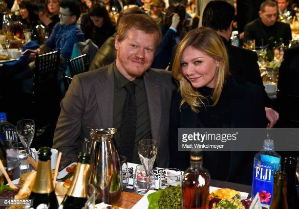 Actors Jesse Plemons and Kirsten Dunst attend the 2017 Film Independent Spirit Awards at the Santa Monica Pier on February 25 2017 in Santa Monica...