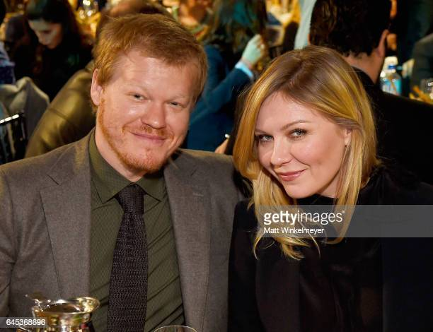 Actors Jesse Plemons and Kirsten Dunst attend the 2017 Film Independent Spirit Awards at the Santa Monica Pier on February 25, 2017 in Santa Monica,...