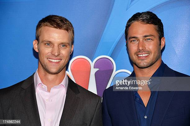 Actors Jesse Spencer and Taylor Kinney arrive at the 2013 Television Critics Association's Summer Press Tour NBC Party at The Beverly Hilton Hotel on...