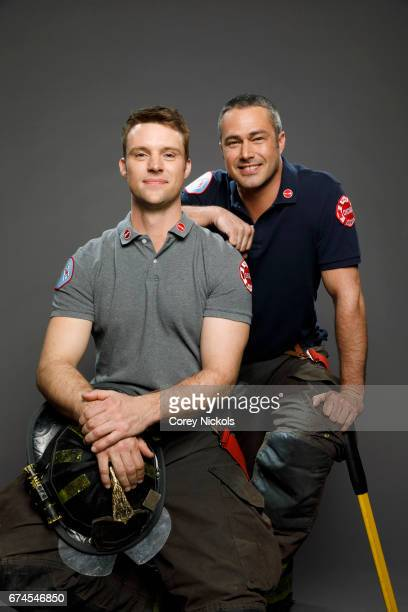 Actors Jesse Spencer and Taylor Kinney from TV's 'Chicago Fire' are photographed for TV Guide Magazine on March 17, 2017 in Chicago, Illinois.