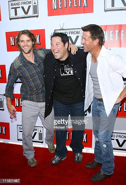 Actors Jesse Spencer Greg Grunberg and James Denton arrive to the Netflix Live On Location concert series featuring The Band From TV held at The...