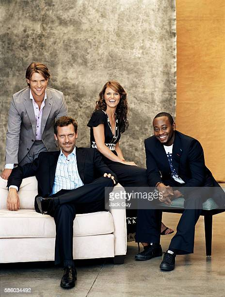 Actors Jesse Spencer, Hugh Laurie, Jennifer Morrison, and Omar Epps are photographed in 2005.