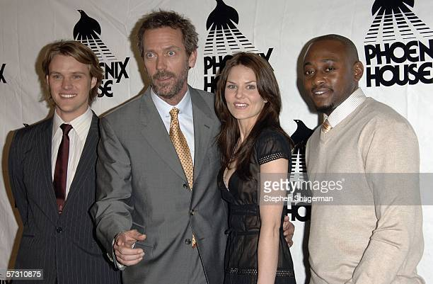 Actors Jesse Spencer Hugh Laurie Jennifer Morrison and Omar Epps attend Cast and Producers of House honored at Phoenix House Awards at the Four...