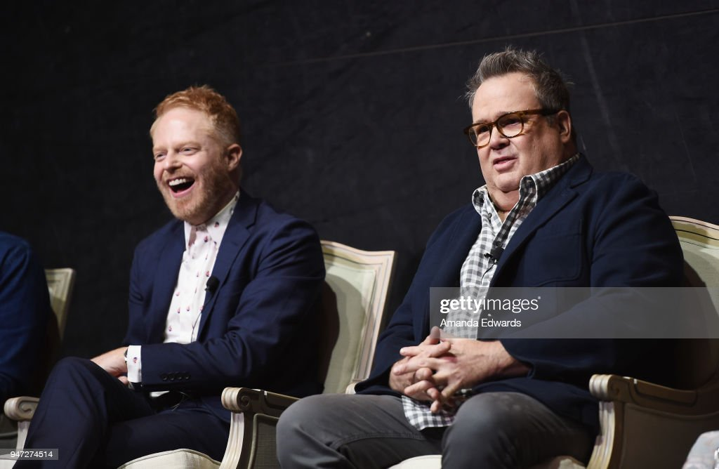 Actors Jesse Tyler Ferguson (L) and Eric Stonestreet attend the FYC Event for ABC's 'Modern Family' at Avalon on April 16, 2018 in Hollywood, California.