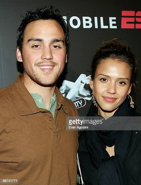 Actors Jessica Alba and her brother Joshua Alba arrive for the ESPN The Magazine Next Party during Super Bowl XL weekend February 3 2006 at the...