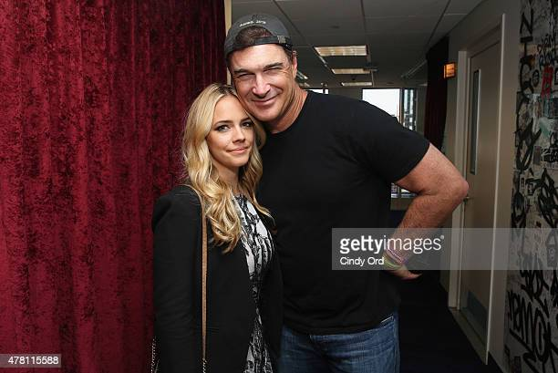 Actors Jessica Barth and Patrick Warburton visit the SiriusXM Studios on June 22 2015 in New York City