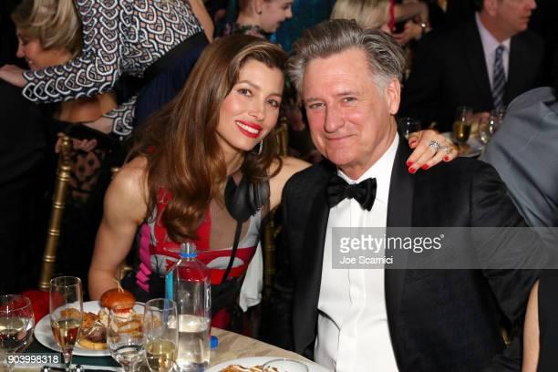 Actors Jessica Biel and Bill Pullman attend the 23rd Annual Critics' Choice Awards on January 11 2018 in Santa Monica California