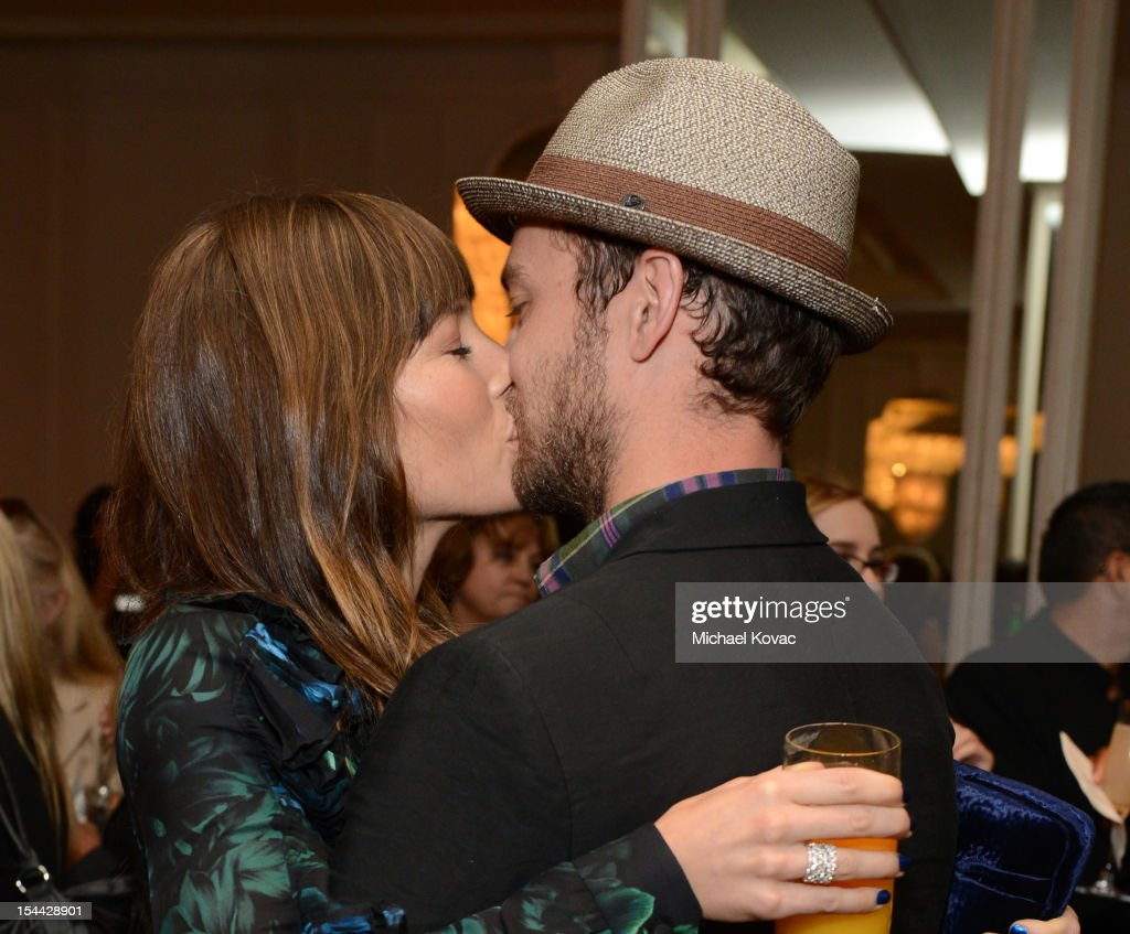 Actors Jessica Biel and Justin Timberlake attend Variety's 4th Annual Power of Women Event Presented by Lifetime at the Beverly Wilshire Four Seasons Hotel on October 5, 2012 in Beverly Hills, California.