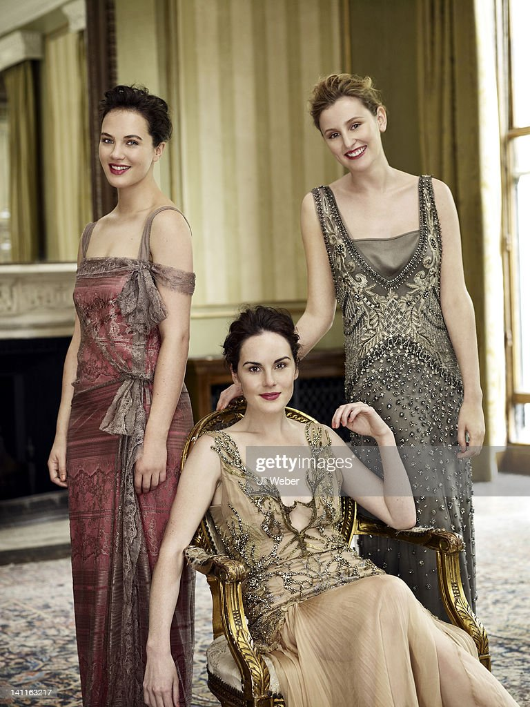 Cast of Downton Abbey, Vogue US, December 1, 2011 : Photo d'actualité