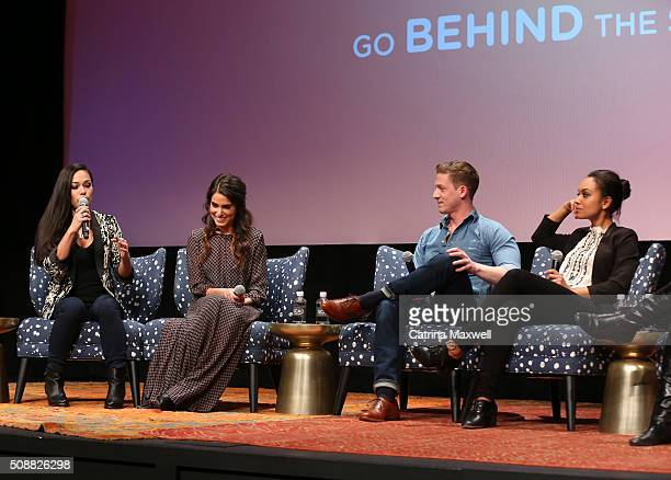 Actors Jessica Camacho Nikki Reed Zach Appelman Lyndie Greenwood speak during the Sleepy Hollow event during aTVfest 2016 presented by SCAD on...