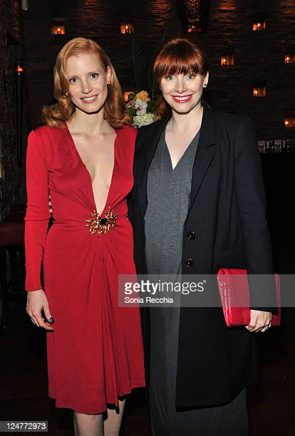 Actors Jessica Chastain and Bryce Dallas Howard arrives at Sony Pictures Classics 20th Anniversary Party at the 2011 Toronto International Film...