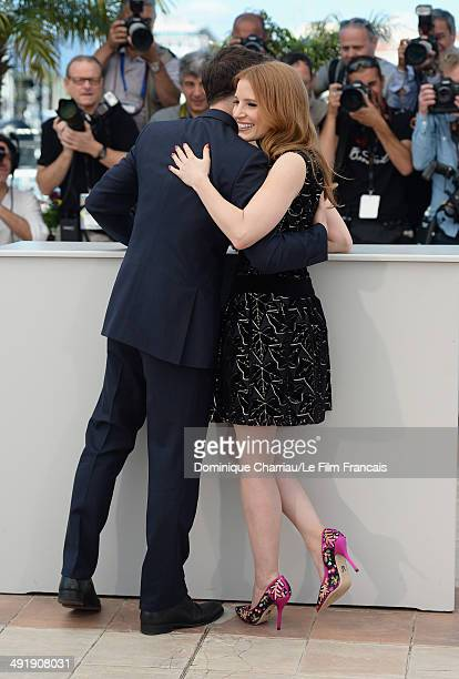 Actors Jessica Chastain and James McAvoy attend 'The Disappearance Of Eleanor Rigby' photocall at the 67th Annual Cannes Film Festival on May 18 2014...
