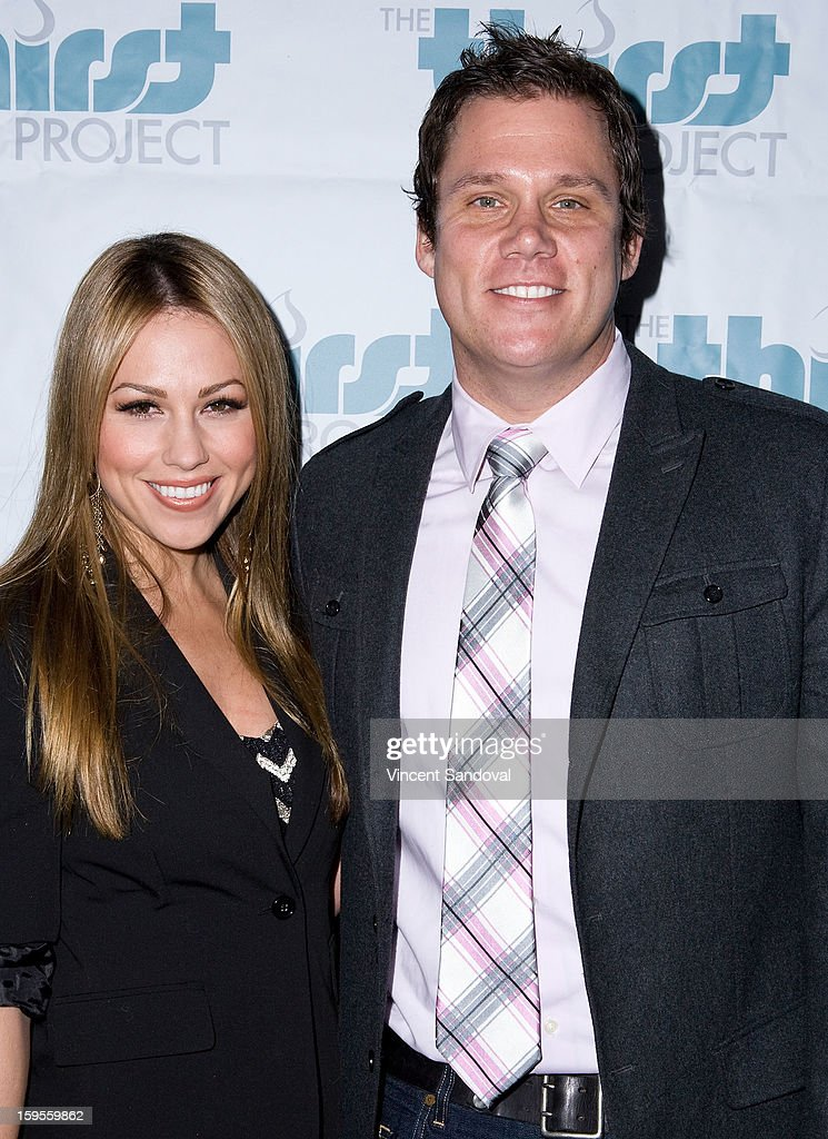 Actors Jessica Hall and Bob Guiney attend the Thirst Project charity cocktail party at Lexington Social House on January 15, 2013 in Hollywood, California.