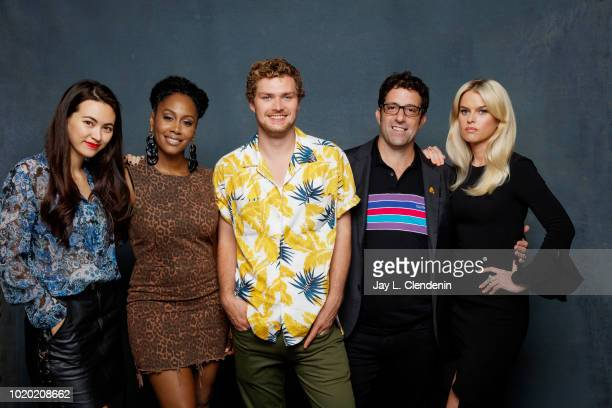 Actors Jessica Henwick Simone Missick Finn Jones writer Raven Metzner and Alice Eve from 'Iron Fist' are photographed for Los Angeles Times on July...