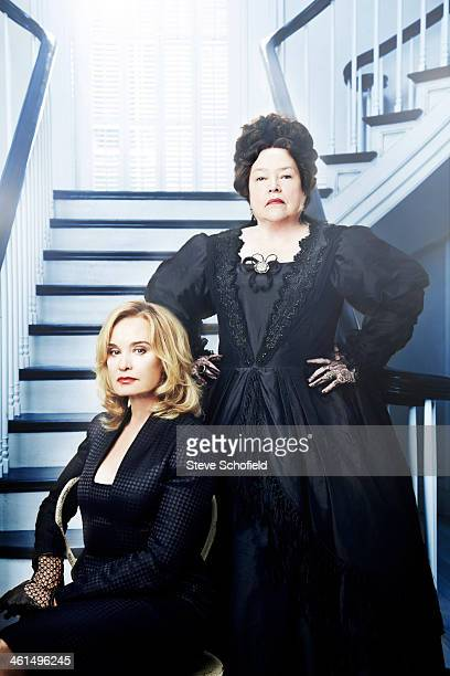Actors Jessica Lange and Kathy Bates are photographed for The Hollywood Reporter on September 29 2013 in New Orleans Louisiana