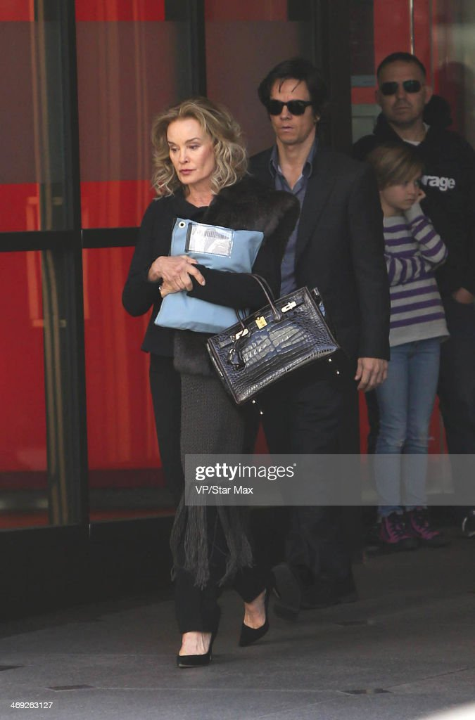 Actors Jessica Lange and Mark Wahlberg are seen on February 13, 2014 in Los Angeles, California.