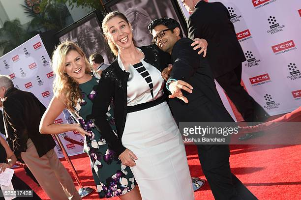Actors Jessica Lowe Brooke Dillman and Asif Ali arrive at TCM Classic Film Festival 2016 Opening Night Gala 40th Anniversary Screening of All The...
