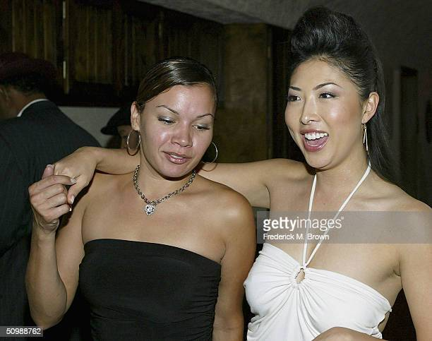 Actors Jessica Lugo and Jenn Pae attend the after party at the 9000 Club for the film Gas during opening night of the Hollywood Black Film Festival...