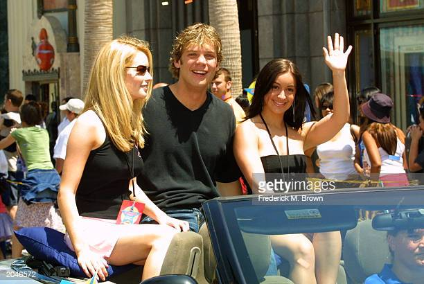 Actors Jessica Morris Brian Gaskill and Kelly Monaco attend the Super Soap Weekend at Disneyland on May 31 2003 in Anaheim California