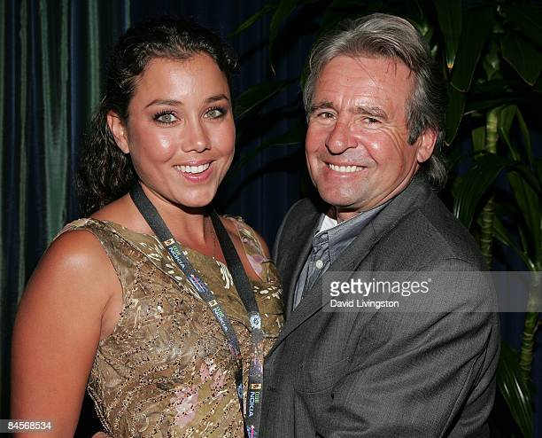 Actors Jessica Pacheco and Davy Jones attend the 2009 Pollstar Awards at the Nokia Theatre on January 30 2009 in Los Angeles California