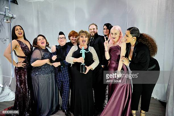 Actors Jessica Pimentel Jolene Purdy Lea DeLaria Annie Golden Lin Tucci Matt Peters Beth Dover Taryn Manning and Dascha Polanco winners of the...