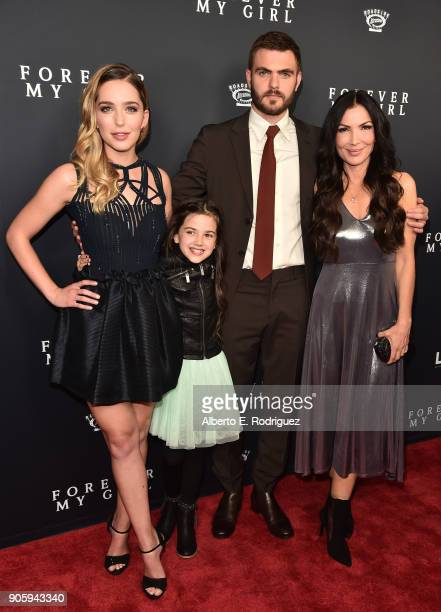 Actors Jessica Rothe Abby Ryder Fortson Alex Roe and director Bethany Ashton Wolf attend the premiere of Roadside Attractions' 'Forever My Girl' at...