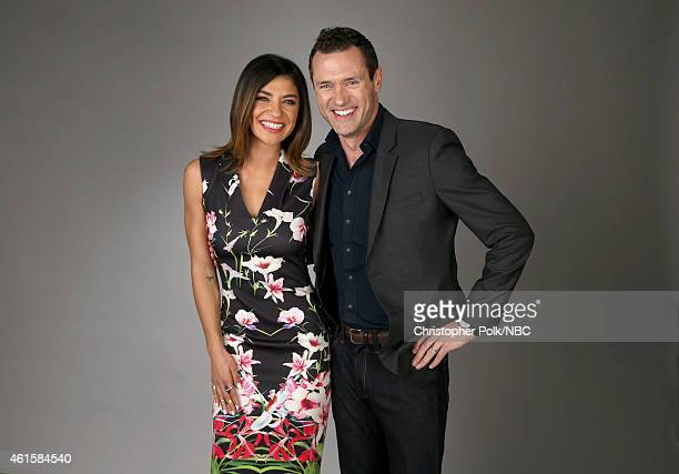 Actors Jessica Szohr and Jason O'Mara of Complications pose for a portrait during the NBCUniversal TCA Press Tour at The Langham Huntington Pasadena...