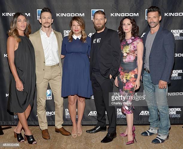 Actors Jessica Szohr Jonathan Tucker Kiele Sanchez Matt Lauria Joanna Going and Frank Grillo attend the DIRECTV's presentation of KINGDOM at the 2015...