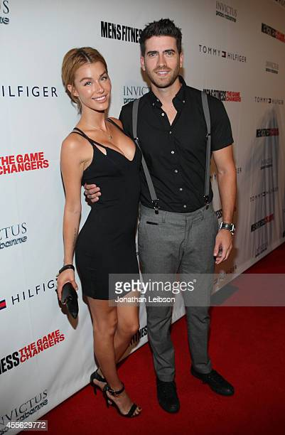 Actors Jessica Vargas and Ryan Rottman at the MEN'S FITNESS 2014 GAME CHANGERS event at Palihouse on September 17 2014 in West Hollywood California