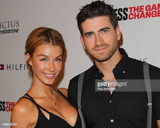 Actors Jessica Vargas and Ryan Rottman attend the Men's Fitness Magazine's celebration for the 2014 Game Changers issue at Palihouse on September 17...